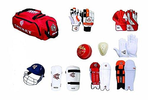 CW Century Ensemble Complet de Cricket de Protection pour Batte et Tenue + Sac à roulettes pour Homme