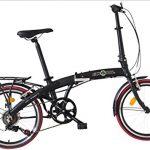 Ecosmo 20AF09BL – Vélo de ville pliant 20″ en alliage léger, 12kg
