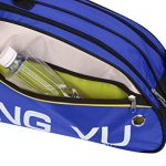 JINTN Sacs de Raquette de Badminton/Tennis de Grande Capacité Sac à Bandoulière en Nylon Impérméable Sac pour Organiseur 4-6 Raquette avec Poche de Vêtement/Chaussure Sacs d'Equipement de Badminton