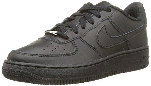Nike Air Force 1 (GS), Baskets Garã§On, Noir (Black/Black-Black), 40 EU
