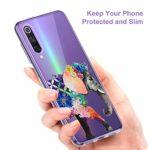 Oihxse Clair Case pour Xiaomi Mi Mix 2s Coque Ultra Mince Transparent Souple TPU Gel Silicone Protecteur Housse Mignon Motif Dessin Anti-Choc Étui Bumper Cover (A12)