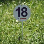 POLANIK – 15 Panneaux à enfoncer pour l'Indication de la Distance des Lancers – de 1 à 15