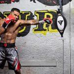 RDX Double End Vitesse Balle De Balle Maya Cacher Cuir Boxe Dodge Gear Sac Poinçonnage MMA Formation Formation Au Sol À La Corde De Plafond
