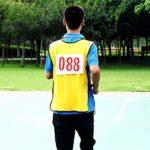 Rlorie Numéro de Course Dossards Numéro en Polyester et Coton Marathon, Dossards De Course 001-100, Jamais Rétrécis, Ne Se Décolorant Pas, pour Athlète De Champ, 25 X 17cm Natural
