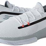 Under Armour UA SC 3ZER0 III, Chaussures de Basketball Homme, Blanc (White/Mod Gray/Mod Gray (100) 100), 51.5 EU
