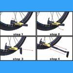 YHWLKK Gonfleur Rapide et Facile – Pompe à vélo des pneus for vélo de Route et de Montagne – isolé Manches -Inflator Stockage Canister Safe Orange