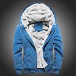 Yumso Homme Sweat-Shirt à Capuche,Homme Hiver Chaud Sweats Épaisse Veste à Capuche Doublée Polaire Couleur Unie Manteaux Doux Hoodie Blousons Sweat-Shirts Manches Longues Grande Taille M-15XL