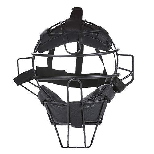 AMAIRS Casque De Baseball, Masque De Protection Sportive De Baseball Softball Masque De Frappe De Baseball Support en Acier Plaque De Masque De Protection,Noir