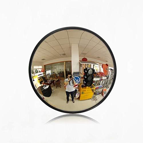 Geng Miroir de sécurité, Peut-il élargir Le Champ de Vue, intérieur Round Supermarché Noir Traffic Anti-vol Miroirs Signal (Size : 80Cm)