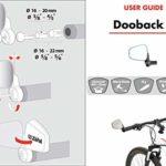 ZEFAL DOOBACK 2 – Rétroviseur cycle ville/loisirs compatible ebike vélo électrique à miroir incassable et rabattable Gauche