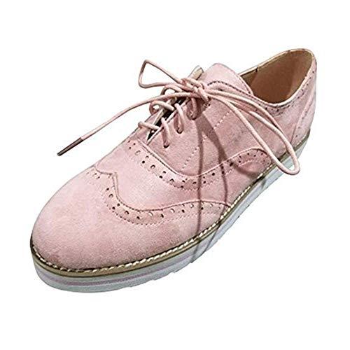 Dtuta Baskets Flock Pour Femme, Solid Toe Ronde En Daim Couleur Unie Pour Femmes Flatties Lace Up Shoes