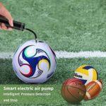Gonfleur Ballon Automatique Electrique Portable,Morpilot Pompe d'Air Intelligent avec Aiguilles pour Football,Basket-Ball,Volley-Ball et Bouée【MEILLEUR CADEAU!!!】