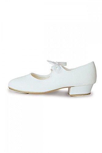 Roch Valley Toile Chaussures à Talon Bas pour Femme Blanc Taille L