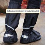 Amazy Surchaussures imperméables + pochette de rangement (Taille 44/45   Hautes) – Couvre chaussures étanches pour temps de pluie, neige et poussière