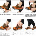 IPSXP Crampon Antidérapent, 19 Dents Crampons de Glace Universelles Glace Traction Antidérapant Grips Crampons pour Chaussures pour Alpinisme Marche Randonnée Jogging Escalade sur Neige et Glace – XL