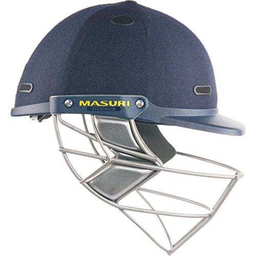 Masuri Test de Vision Série Titanium Casque de Cricket L Bleu Marine