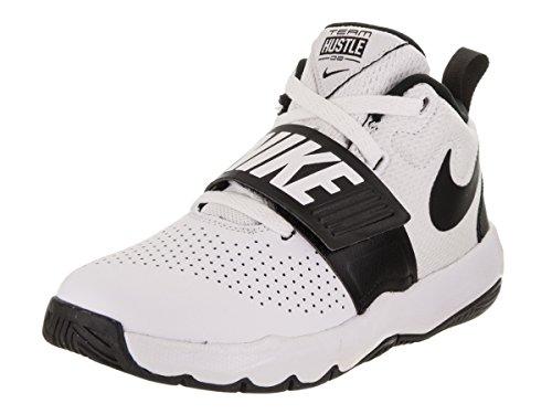 Nike Team Hustle D 8 (Ps), Chaussures de Basketball garçon – Blanc (White/black), 29.5 EU