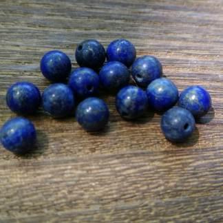 Perles Lapis lazuli 6mm