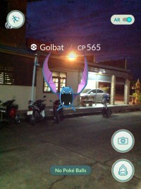 Golbat at Night,Pokemon Go in Bangkok and Thailand