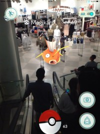 Magicarp Terminal 21, Pokemon Go in Bangkok and Thailand