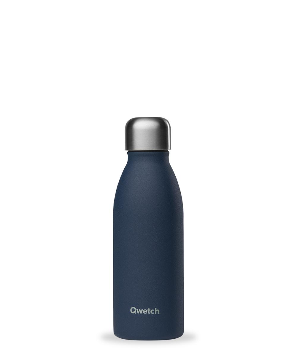 qwetch bouteille inox simple paroi bleu marine 500 ml boutique bio