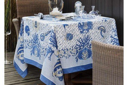 Aquarius French tablecloth luxury French table linens by