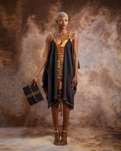 Summer-Dress-with-Kente-Hint---Black-by-Mable-Agbodan-3