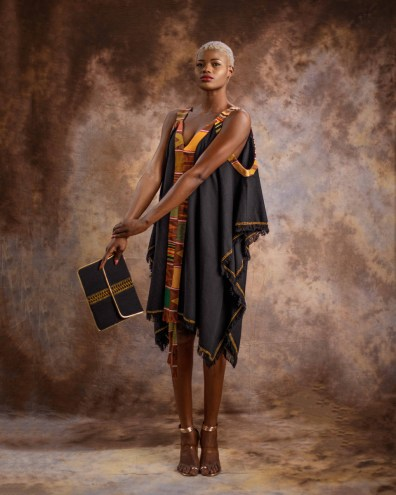 Summer-Dress-with-Kente-Hint---Black-by-Mable-Agbodan-4