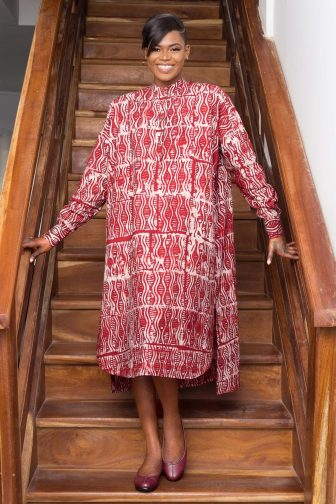 Robe rouge par Mablé Agbodan _ IMG_7208