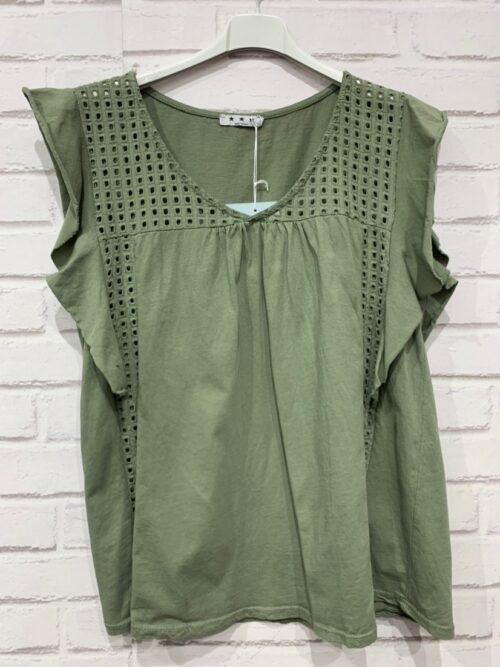 חולצה כותנה הילה ירוקה