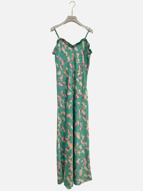 שמלה כתפיות מקסי תמי ירוקה