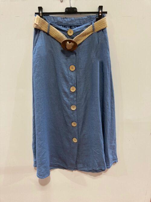 חצאית פשטן כחול גינס