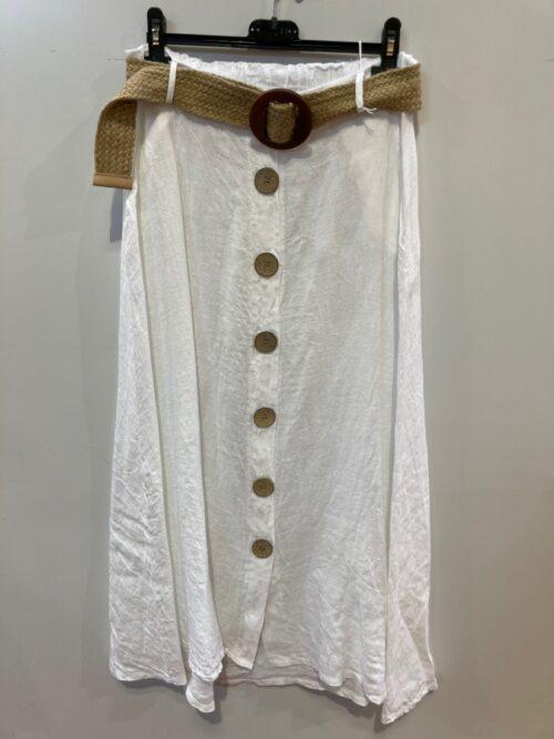 חצאית פשטן לבן