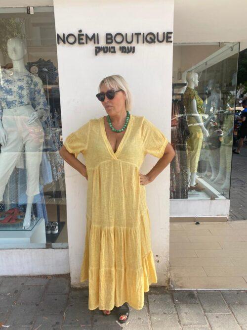 שמלה פשטן צהוב