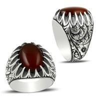 Ottoman Anatolia Aqeeq Ring - Boutique Ottoman Jewelry Store