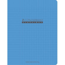 cahier polypro bleu 90g 60 pages seyes 17x22