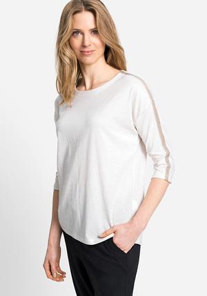 T-shirt manches 3/4 avec fil lurex Olsen
