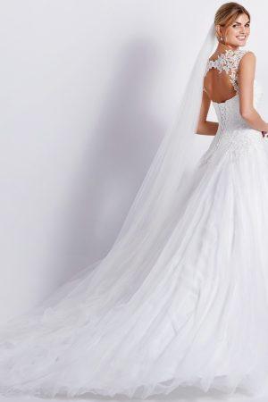 robe de mariee lilly modele 08-4231 en tulle et dentelle