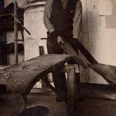Werkzaamheden in kerk (H. Hoogland) rond 1941