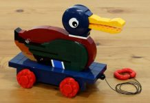 Classic LEGO Duck Pull Toy