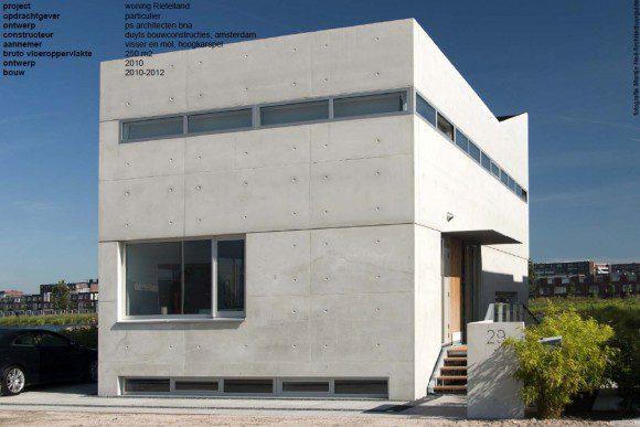 Villa van gestort beton is af  Bouwwereldnl