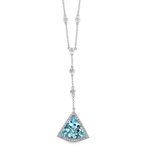 nk16390btpz w rt 3 - 14K WHITE GOLD BLUE TOPAZ DIAMOND TRIANGLE NECKLACE NK19983BTPZ-W
