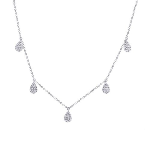 0.27CT 14K WHITE GOLD DIAMOND PAVE NECKLACE - 0.27CT 14K WHITE GOLD DIAMOND PAVE NECKLACE SC55002076