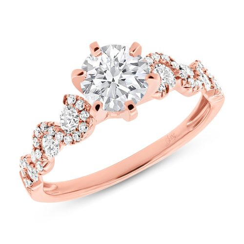 0.54ct 14k Rose Gold Diamond Semi mount Ring SC28023024b - 0.54CT 14K ROSE GOLD DIAMOND SEMI MOUNT RING