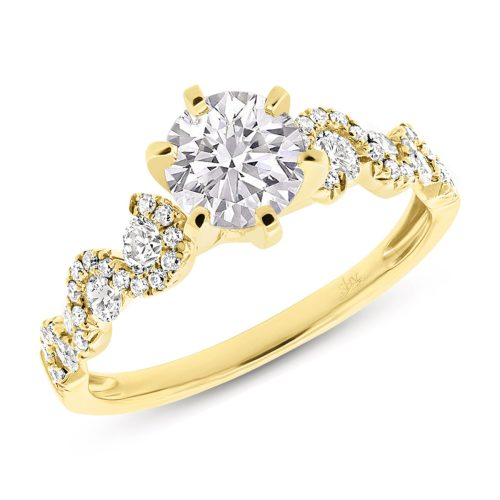 SC28023025 mounted - 0.54CT 14K YELLOW GOLD DIAMOND SEMI-MOUNT RING