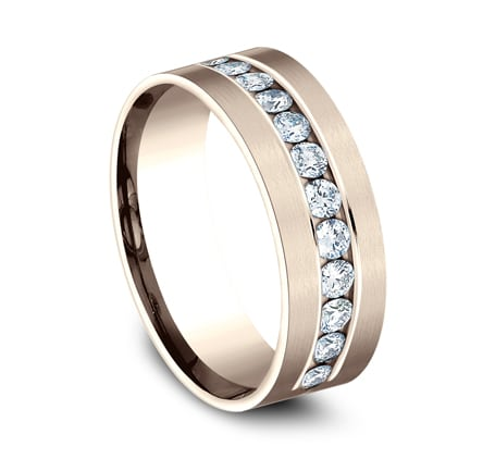 CF528531R P2 - ROSE GOLD 8MM CHANNEL SET DIAMOND BAND
