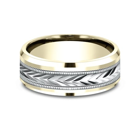 CF188003 P3 1 - 8MM MULTI GOLD  DESIGN BAND CF188003