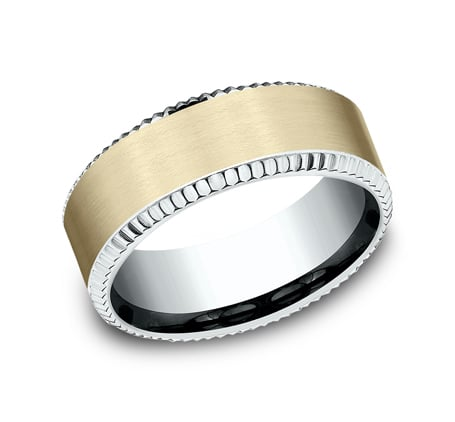 CF208527 P1 - MULTI GOLD 8MM  DESIGN BAND CF208527