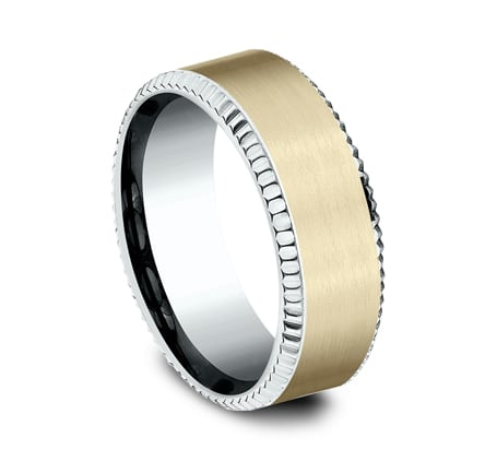 CF208527 P2 - MULTI GOLD 8MM  DESIGN BAND CF208527