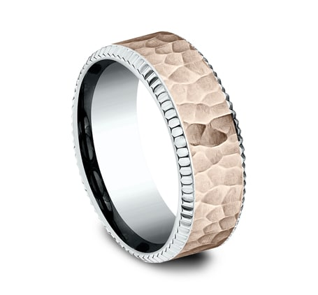 CF228376 P2 - UNIQUE MULTI GOLD 8MM  DESIGN BAND CF228376